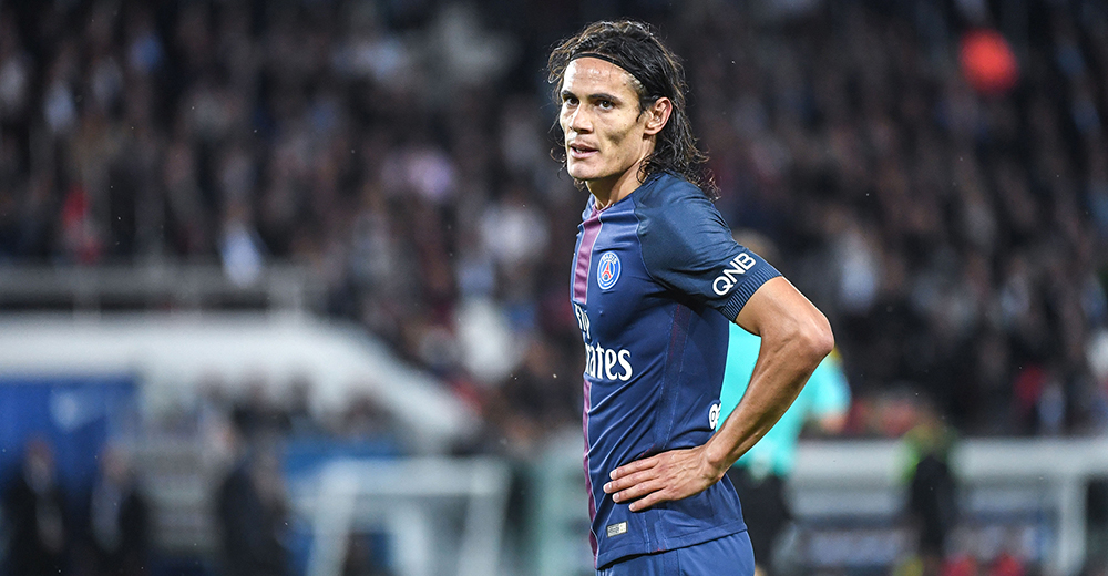 160920, Fotboll, Franska Ligan, PSG Edinson Cavani of PSG looks dejected during the French Ligue 1 game between Paris Saint-Germain and Dijon FCO at Parc des Princes on September 21, 2016 in Paris, France. (Photo by Anthony Dibon/Icon Sport) © Bildbyrån - COP 75 - SWEDEN ONLY